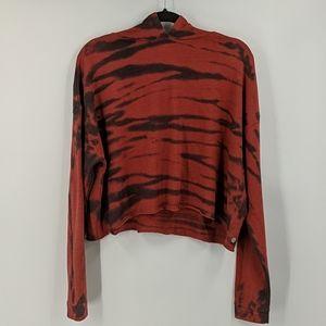 NWOT Z by ZELLA Cropped Tie Dye Hoodie Sweatshirt